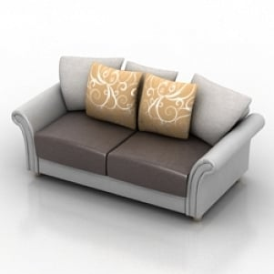 Sectional couch fabric corner sofa 3d model 3dmax files free.