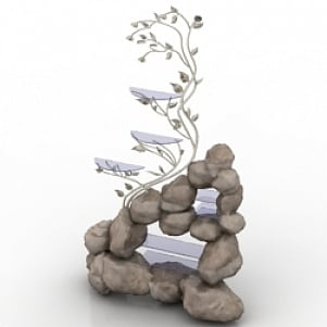 Rock Shelf 3D Model