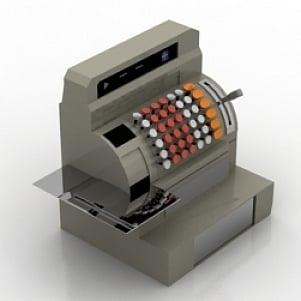 Cash register 3D Model Free Download 3D Models ID1548 (3ds