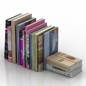 Books Group 3D Model