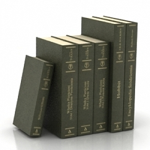 Vintage Books 3D Model