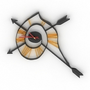 Arrow Style Clock 3D Model