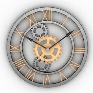 Machenic Style Clock 3D Model