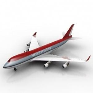 Northwest Airlines Airplane 3D Model Free Download 3D Models