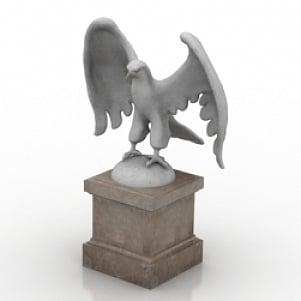 Eagle Sculpture 3D Model