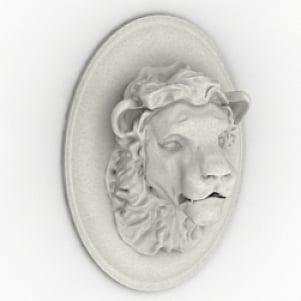 Bajorrelieve de león