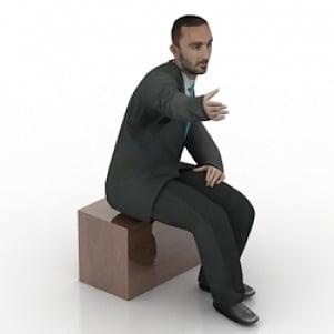 Liiketoiminnan istuva mies
