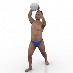 Volley Ball Man