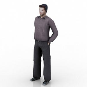 Handsome Man 3D Model