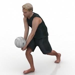 الكرة الطائرة الرجل الرياضي
