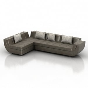 Smooth Modern Sofa 3d Model Free Download 3d Models Id2735 3ds Gsm