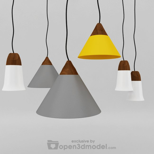 Slope Pendant Lamp 3dsmax Model Vray Free Download 3d