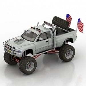 Bigfoot Car 3D Model
