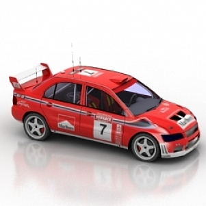 Lancer Wrc Car 3D Model