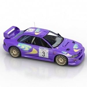Impreza Car 3D Model