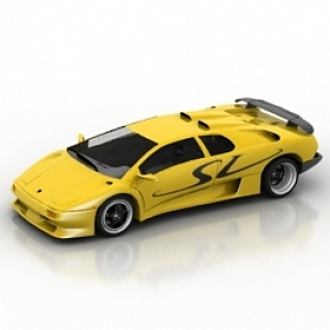 Car Diablo SV 3D Model