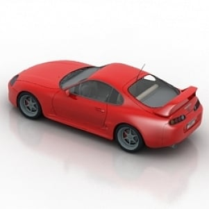 Supra Car 3D Model