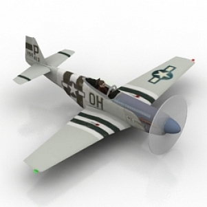 Airplane Fighter 3D Model