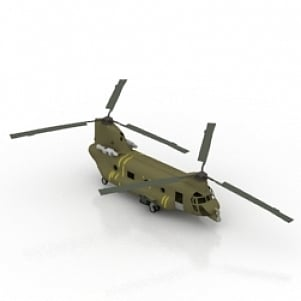 CHIN Helicopter 3D Model