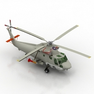 SH2F Helicopter 3D Model
