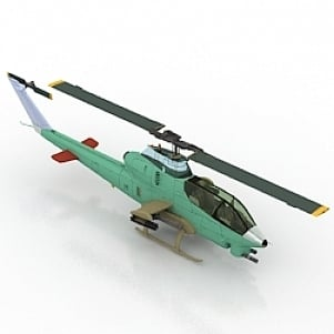 AN 12 Helicopter Free 3D Model