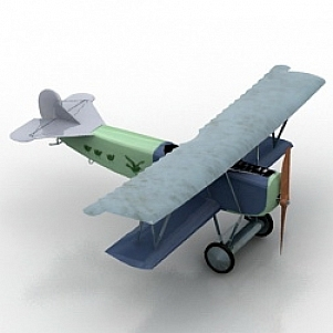 FOKERR7 Airplane 3D Model