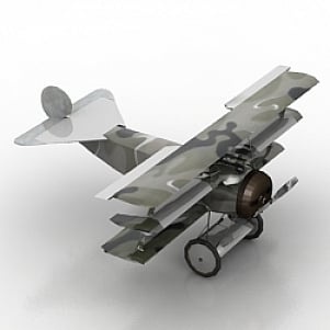 FOKERD1 Airplane 3D Model