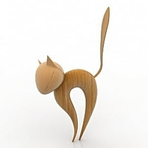 Figurine Cat 3D Model