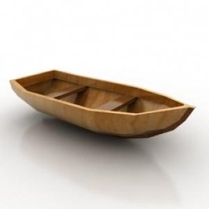 Wodden Boat 3D Model