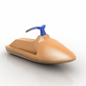 Hidrocycle 3D Model