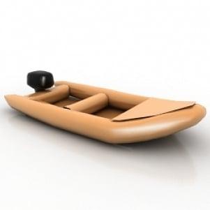 Rubber Dinghy 3D Model