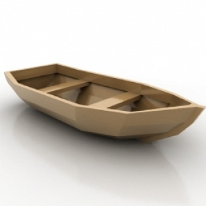 Tiny Wodden Boat 3D Model