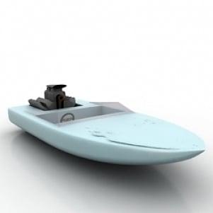 Motor Launch 3D Model