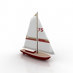 Sailer Boat 3D Model