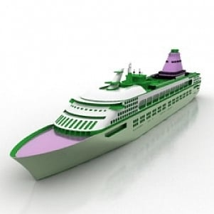 Super Cruise Ship 3D Model