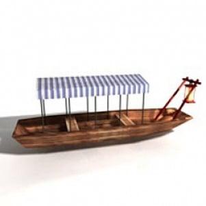 Asian Boat 3D Model