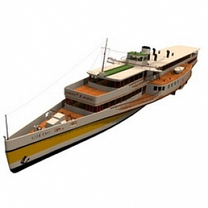 Pleasure Boat 3D Model