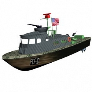 Army Ship 3D Model
