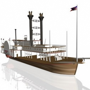 Big Yacht 3D Model