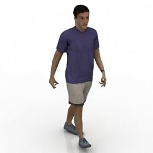 Walking Man 3D Model