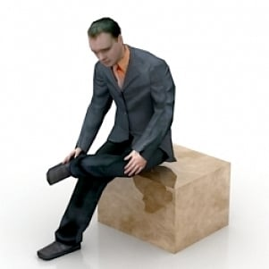 Seated Man 3D Model