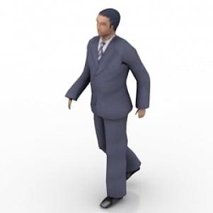 Walking Business Man 3D Model