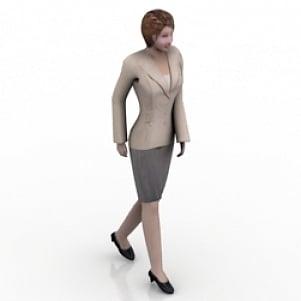 Walking Office Woman 3D Model