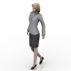 Business Girl 3D Model