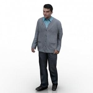 Office Man 3D Model