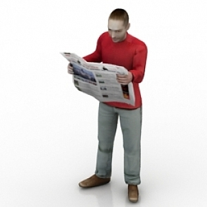 Reading Man 3D Model