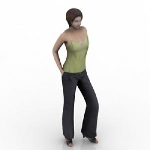 Standing Girl 3D Model