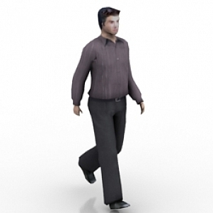 Waliking Man 3D Model