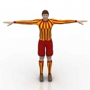 Footballer Man 3D Model