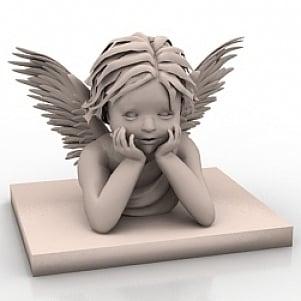 Angel Wing Statue 3D Model